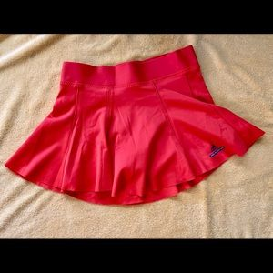 Orange athletic short sport skirt - Adidas